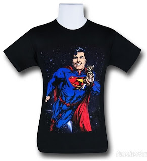 Click here to purchase your Superman Saves A Kitty t-shirt at SuperHeroStuff!