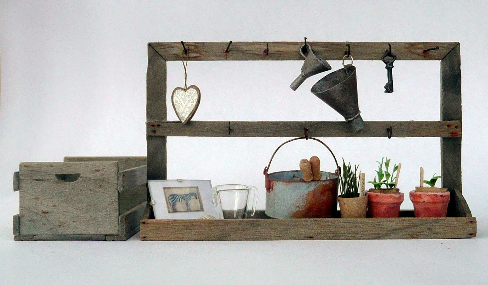 Superb img of Amber's House: 1:12 scale Rustic Shelf with #954736 color and 1600x934 pixels