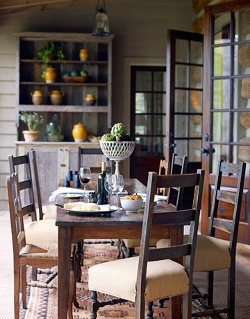The essence of home rustic cottage decor for Rustic dining area