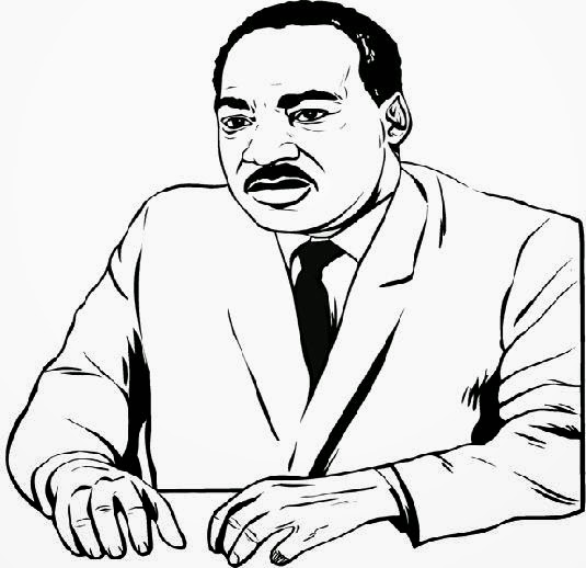 Martin luther king coloring pages printable for Martin luther king jr coloring pages to print