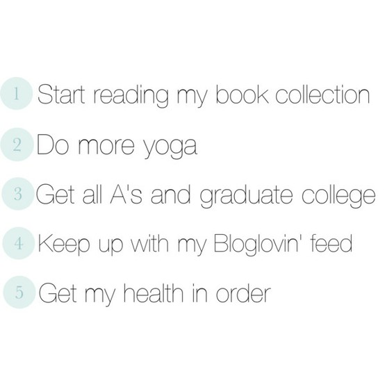new years, NYE, resolutions, keeping resolutions, yoga, book collection, college, education, health, weight loss