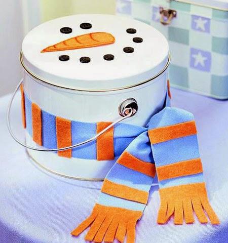 Снежен човек опаковка на сладки коледни подаръци за деца
