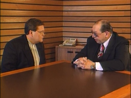 WWF / WWE - In Your House 4 - Great White North - Jim Ross questions WWF President Gorilla Monsoon about the status of the Intercontinental Championship