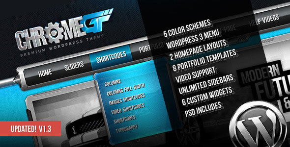Image for ChromeGT – Business & Portfolio Theme by ThemeForest