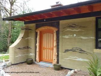 Casa de tierra cruda apisonada