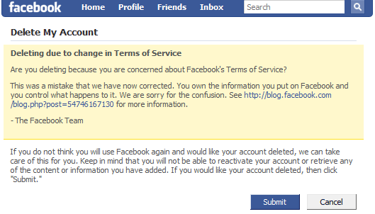 How to Delete or Disable the Facebook account