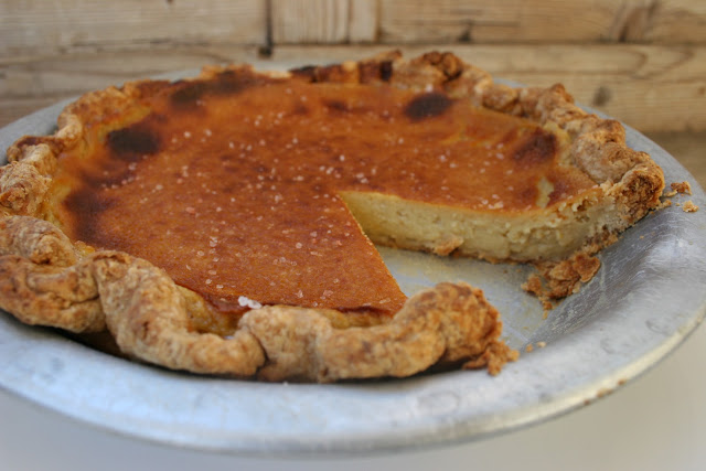 Maple Bourbon Buttermilk Pie