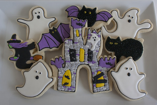 Haunted Castle Halloween Cookies