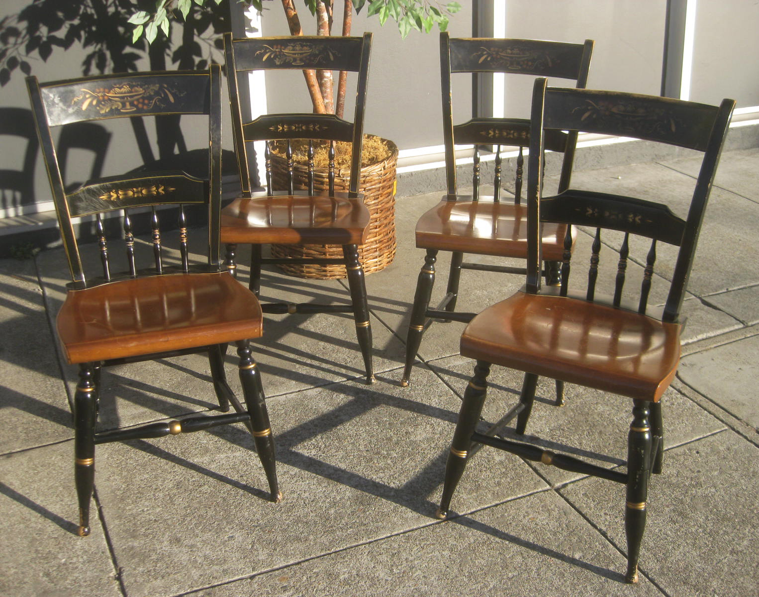 SOLD   Matching Ethan Allen Hitchcock Chairs   $45 Each