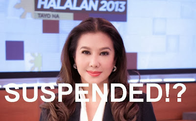 Korina Sanchez was suspended for 1 year by ABS-CBN