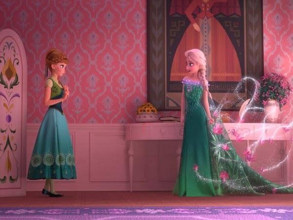 imagen de Ana y Elsa en Frozen Fever