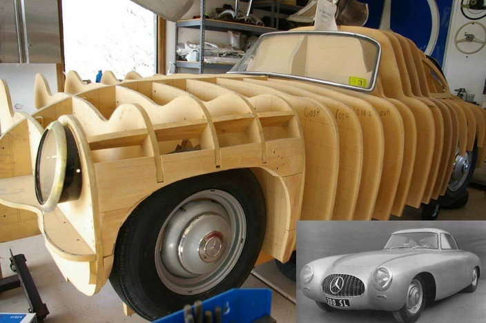 Scootermcrad 39 s whatchaworks mercedes w194 scratch build for Passarelli custom homes