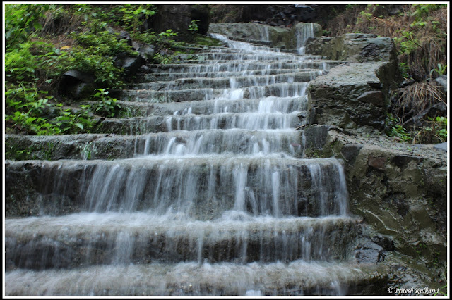 Silky flow of water...Korigad Fort