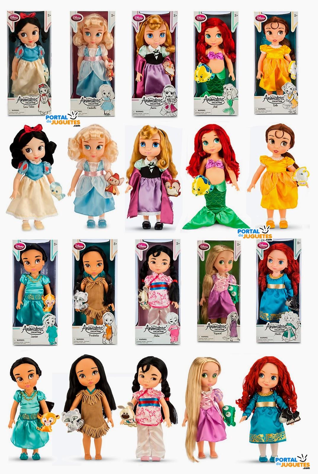 todas las muñecas coleccion disney animators tercera edicion