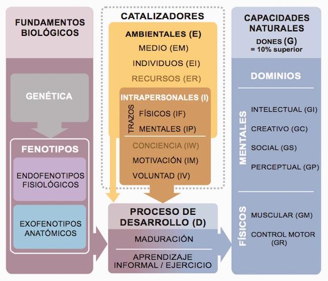 Fundamentos biológicos del desarrollo de las capacidades naturales de Françoys Gagné