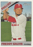 2015 Topps Heritage High Number #596 Freddy Galvis