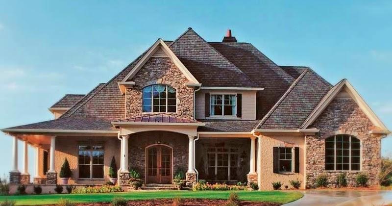 Fachada de casa americana con partes en piedra tattoo - Milanuncios com casas ...