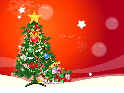 Fondo de pantalla de Navidad color rojo