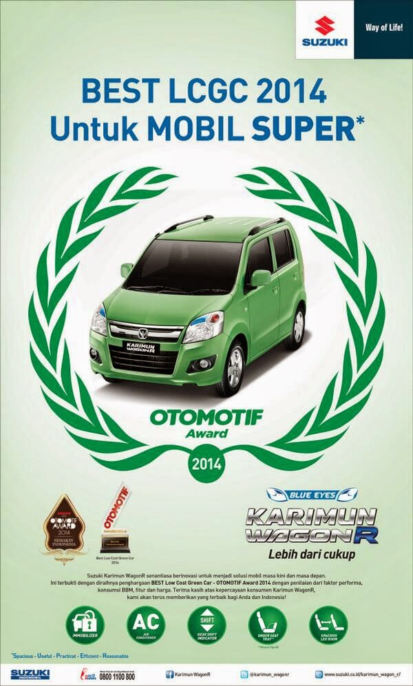 BEST Low Cost Green Car - OTOMOTIF Award 2014