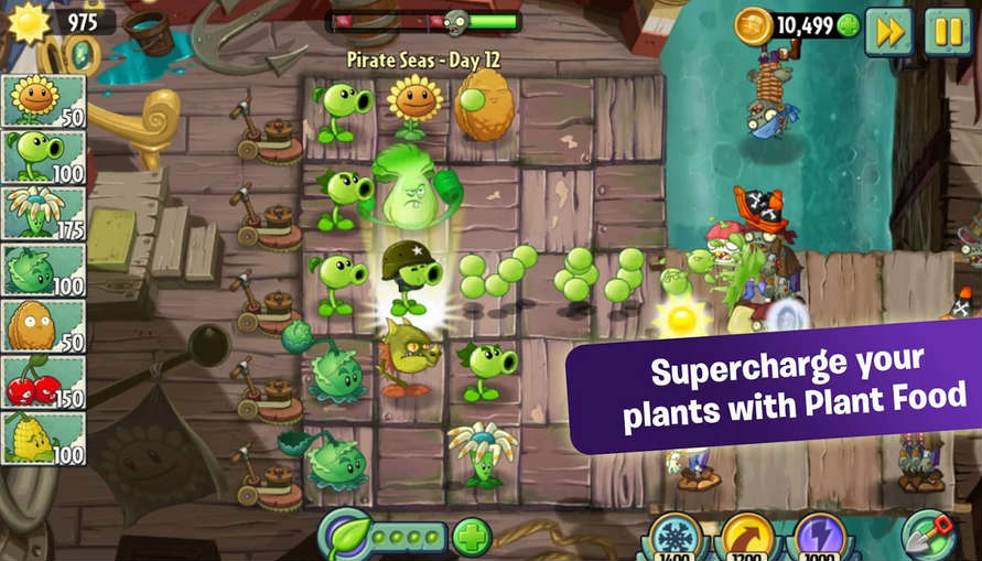Plants Vs Zombies 2 Game Features
