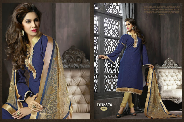 Purchase Designer Embroidery Churidar Dress Material