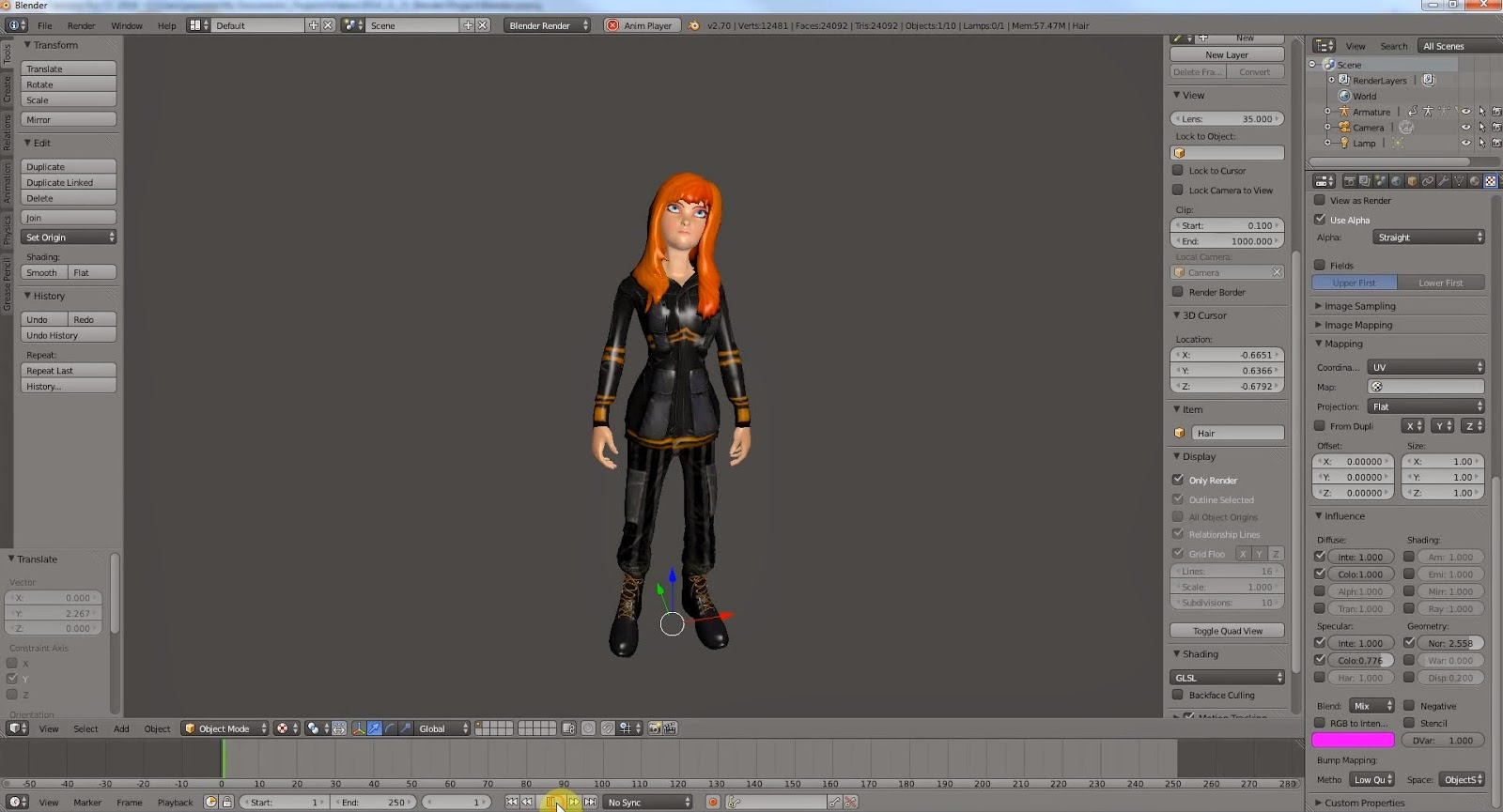 Blender Character Modeling Workflow : Mixamo to blender workflow cg tutorial