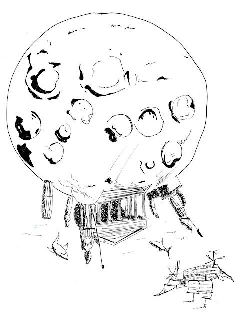 Arquitectura en la luna, atlantida lunar, arquitectura slenita