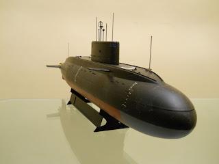 proa del submarino ruso kilo