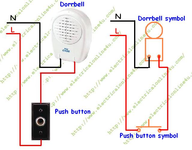 doorbell%2Bwiring how to wire a doorbell electrical online 4u bell wiring diagram at alyssarenee.co