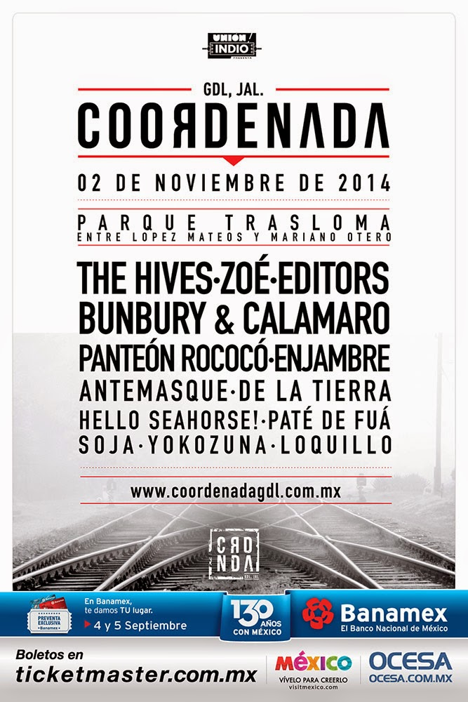 programa y boletos del Festival Coordenada 2014