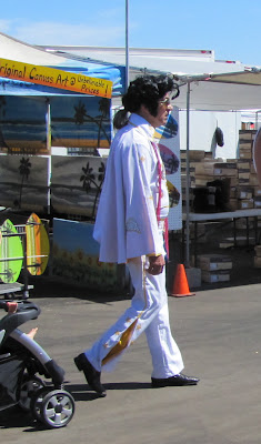 Ponytail Incognito Elvis at the Orange County Elvis Festival, Orange County Fairgrounds, Costa Mesa, CA #Elvisfest #Elvis #California www.thebrighterwriter.blogspot.com
