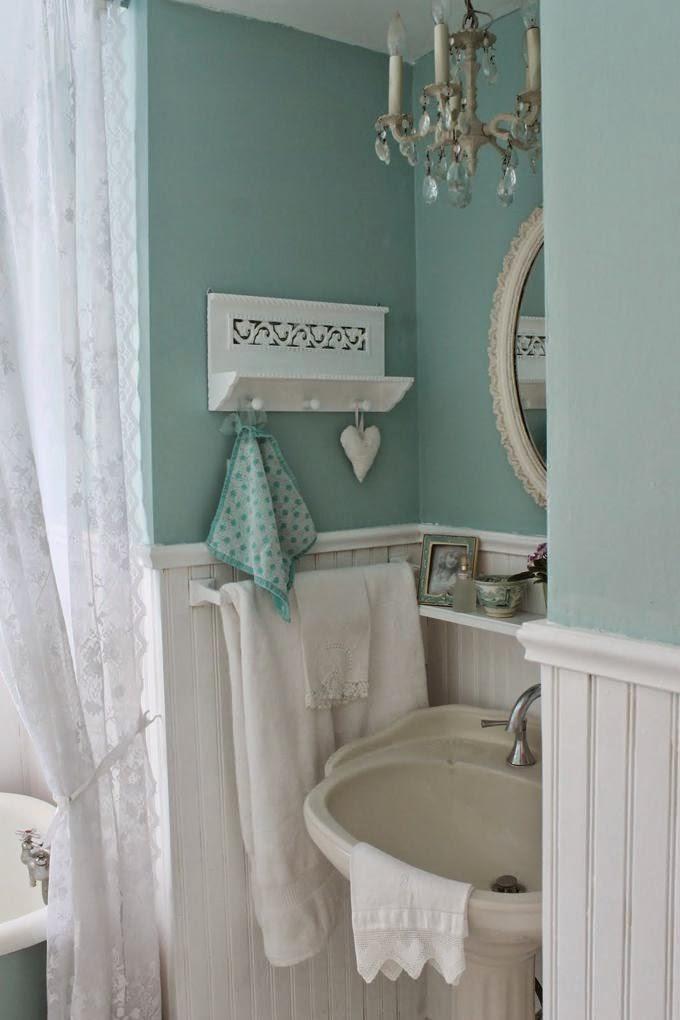 Arredamento stile shabby chic arredare interni ed esterni della casa pareti bagno shabby chic - Shabby chic interiors bagno ...