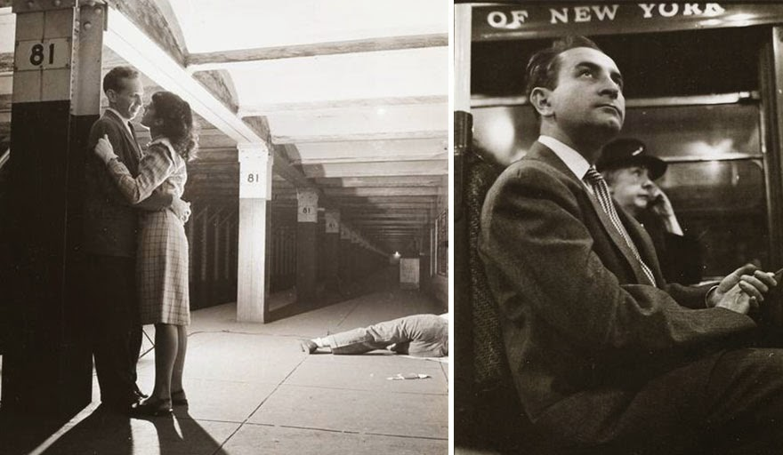 While working for LOOK magazine - before he went on to become a film director, Stanley Kubrick took over 15,000 photos of NY subway. His photos captures everyday life of people in 1946.