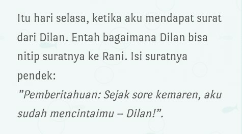 Review novel : Dilan, dia adalah Dilanku tahun 1990 ...