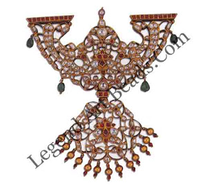 PADAKKAM (pendant) South lndia 19th century H: 15cms W: 13 cms