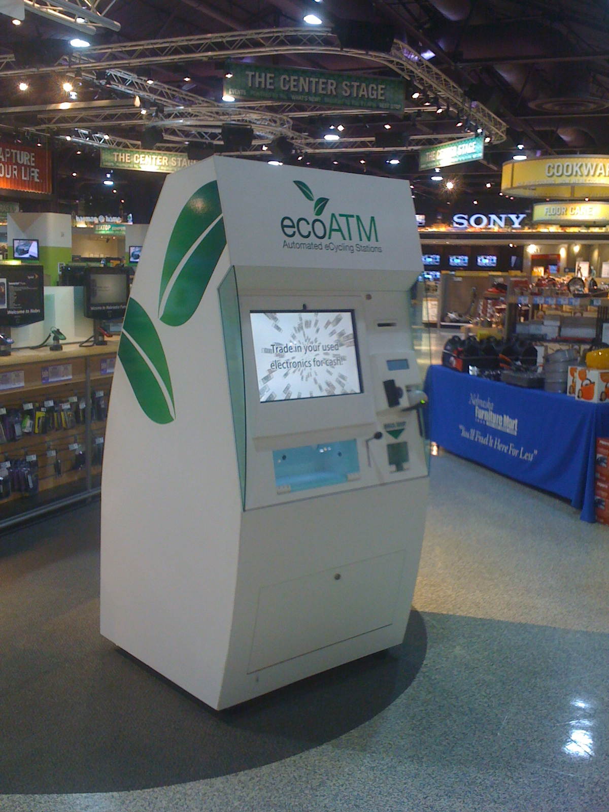 ecoatm cell phone recycling machine