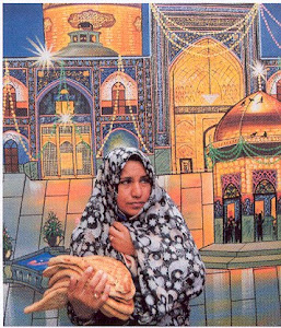 لامی , مدام در حال ساختن ضریح و گنبد و منا ره طلا برای حسن و حسین و تقی و نقی