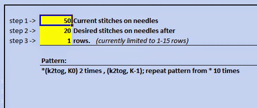Decrease Knitting Stitches Calculator : Life of Gregory D: Knitting Calculator