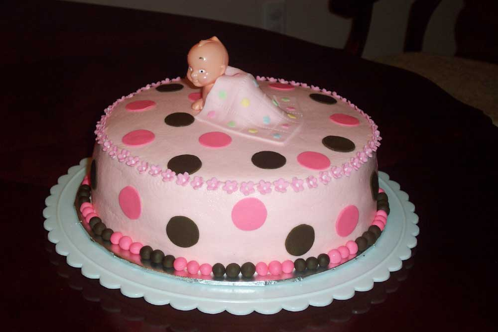 Cake Ideas For A Baby Girl : Baby Shower Cakes - Type Pictures