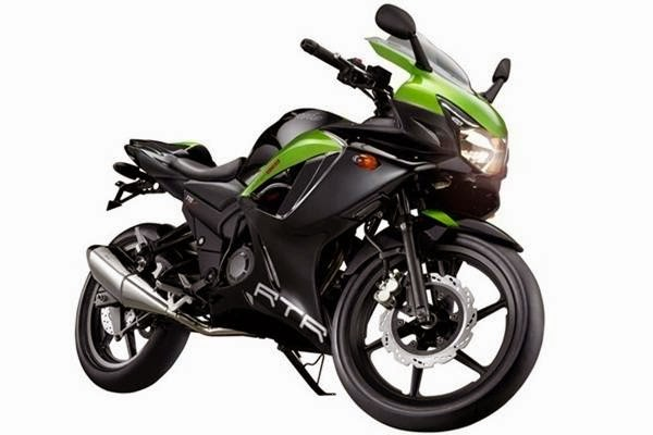 TVS Apache RTR 250 green color model