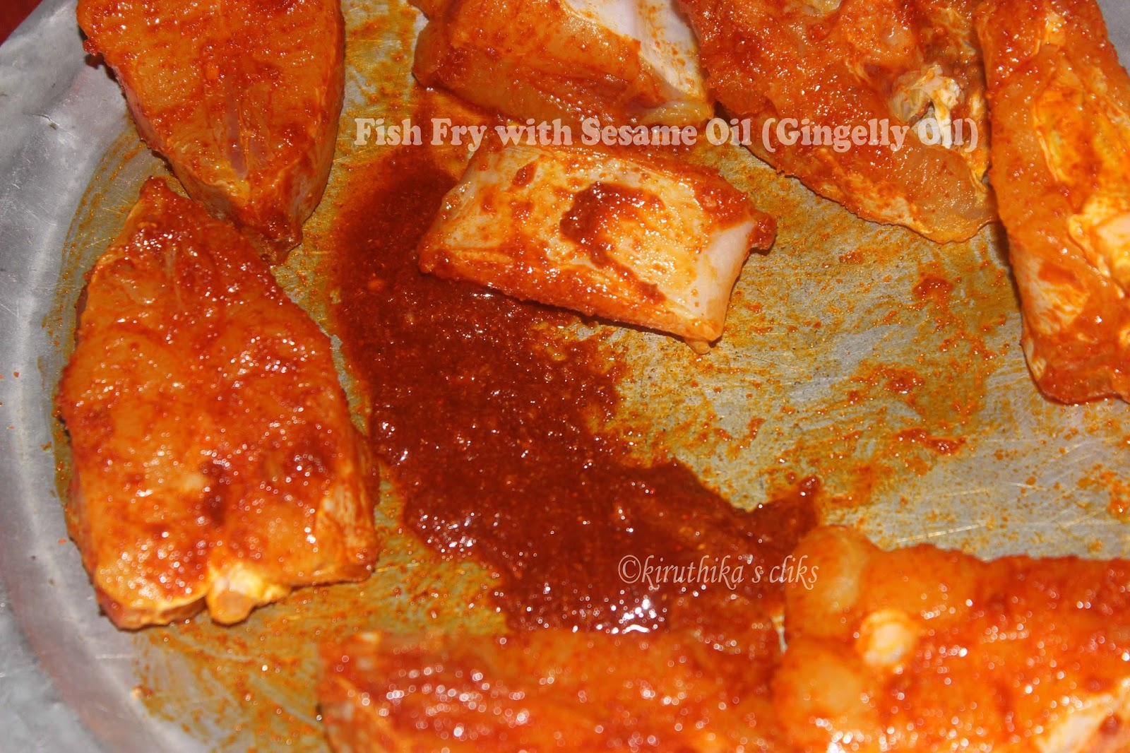 Fish fry with sesame oil gingelly oil paperblog for Best oil for frying fish