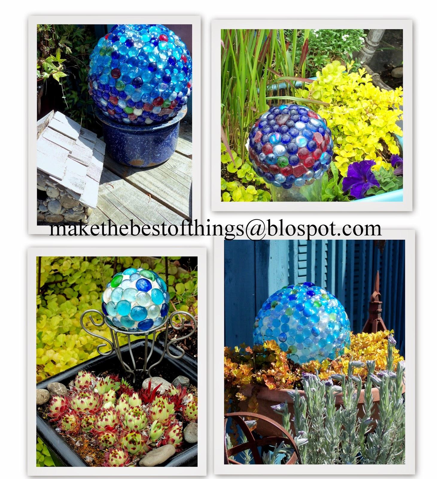 Make the best of things diy garden art super easy glass for Garden art to make