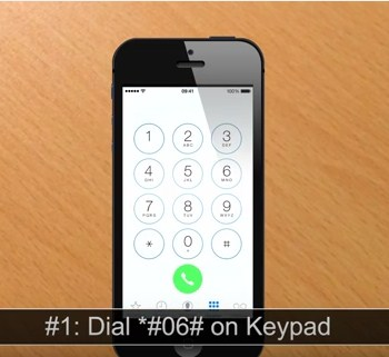how to find serial number on back of iphone 4s