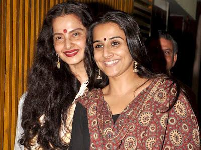 Actress Rekha and vidya balan bother together watches Kahaani movie