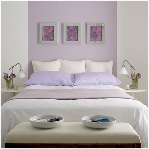 Lilac bedrooms ideas. Purple violet dormitories