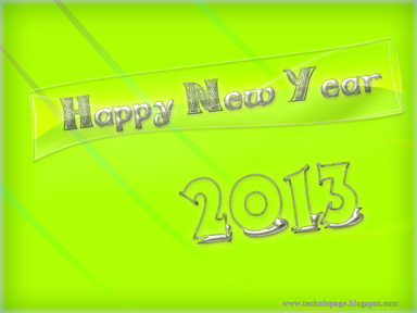glassy effcect new year wallpaper for 2013 year.