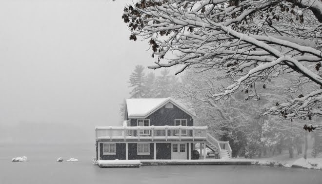Winter Boathouse