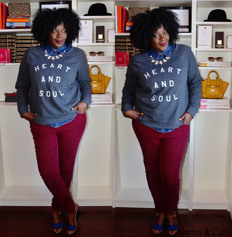 old navy hear and soul crew neck sweater - 30 days 30 Outfits Challenge Fall Edition