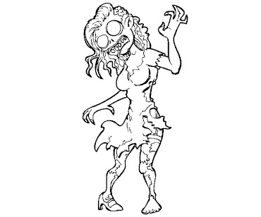#1 Zombie Coloring Page