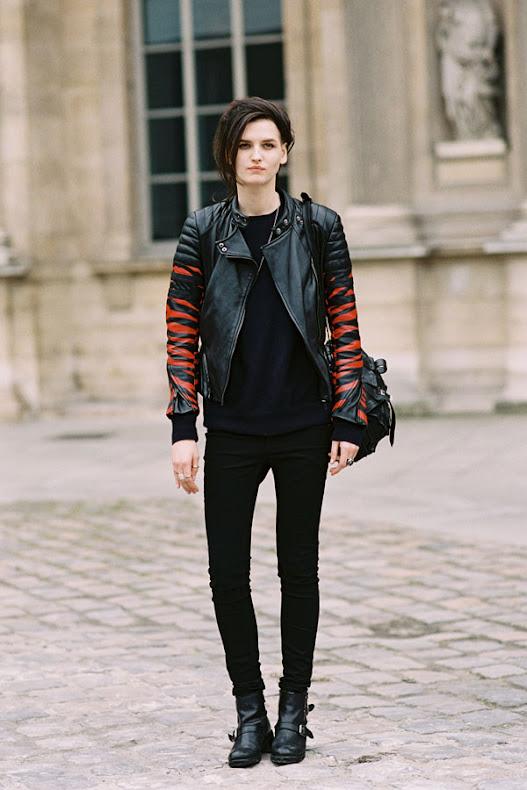 Estonian Model Katlin Aas, After Louis Vuitton, Paris, March 2013